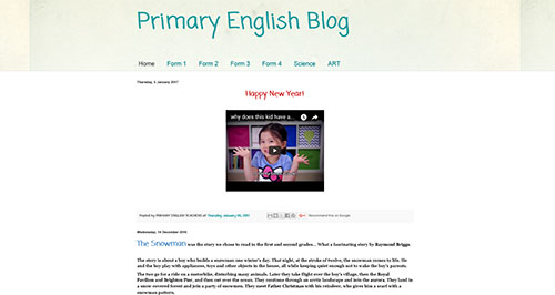 Primary English Blog